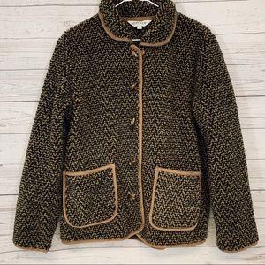 ORVIS Deep Pile Sherpa Fleece Toggle Jacket M